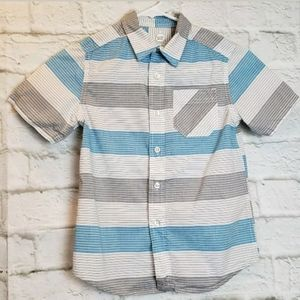 WONDER NATION Button Down S/S Shirt Boy's 6/7